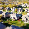 aerial view of residential neighborhood