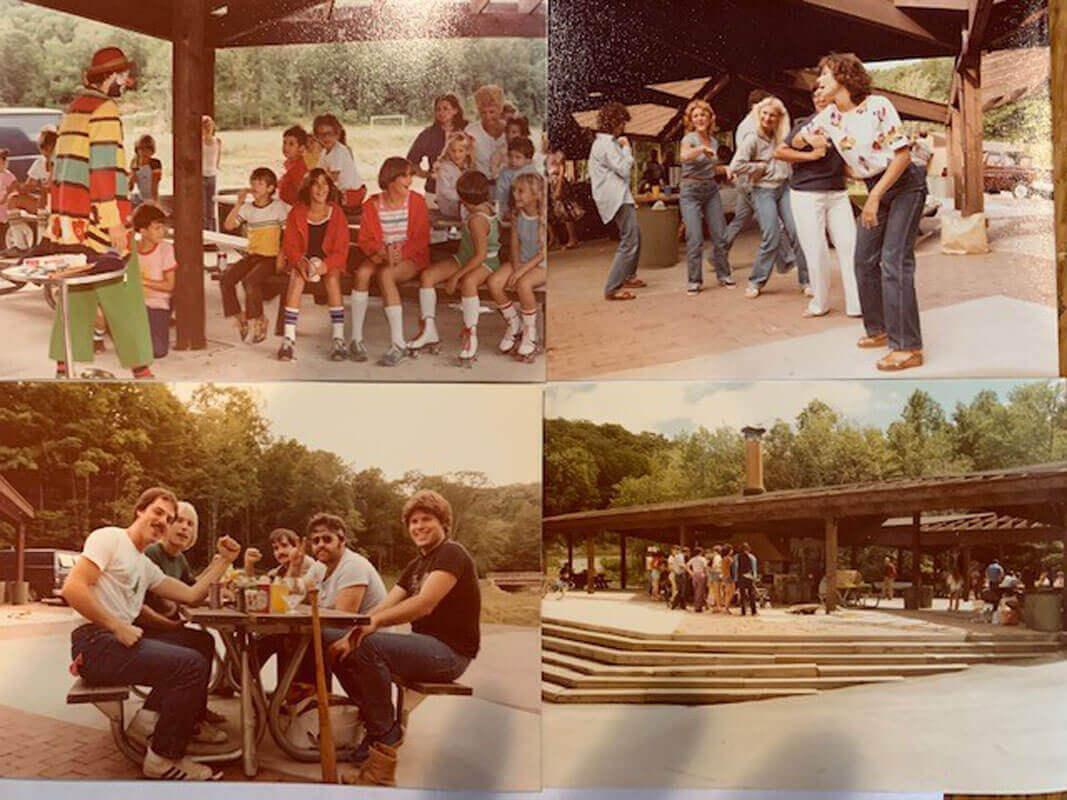 Collage of Nisivoccia picnic