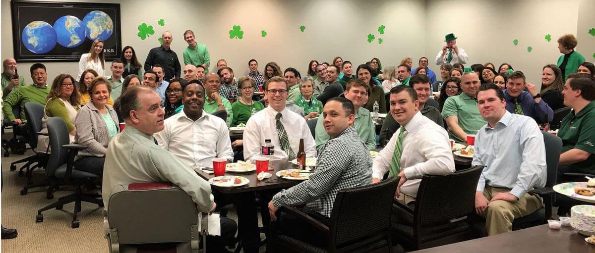 St Patrick's Day gathering